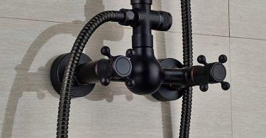 Colonne de douche noire Grohe